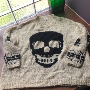 Hot & Delicious Oversized Skull Sweater